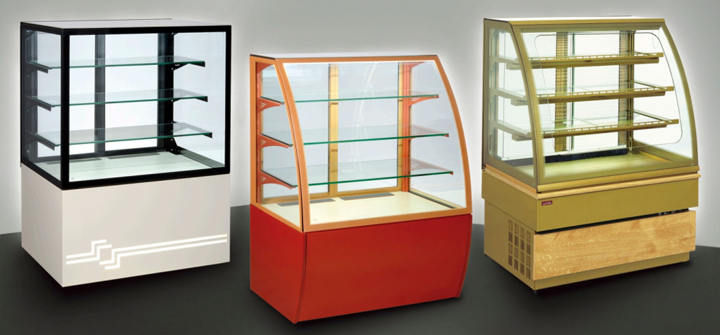george_floor standing display cabinets hot and cold